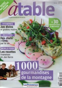 Magazine A table février 2016