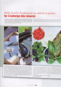 Photos culinaires faites par Vanessa Romano à l'Auberge des Maures
