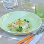 Cabillaud, confetti de légumes et liqueur de mandarine - Manguin, Avignon - Vanessa Romano photographe et styliste culinaire