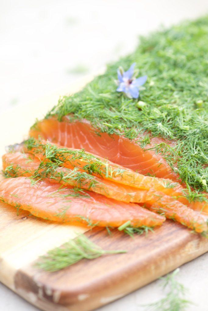 photo de Gravlaax de saumon - Vanessa Romano photographe culinaire