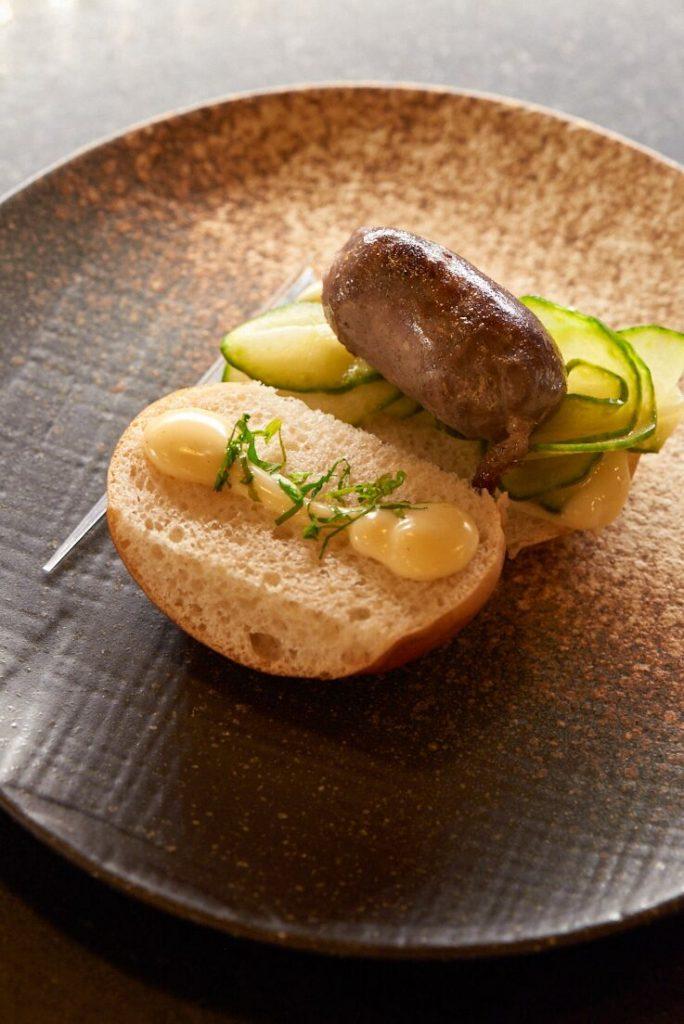 photographie culinaire d'un hot dog Icehotel, Suède
