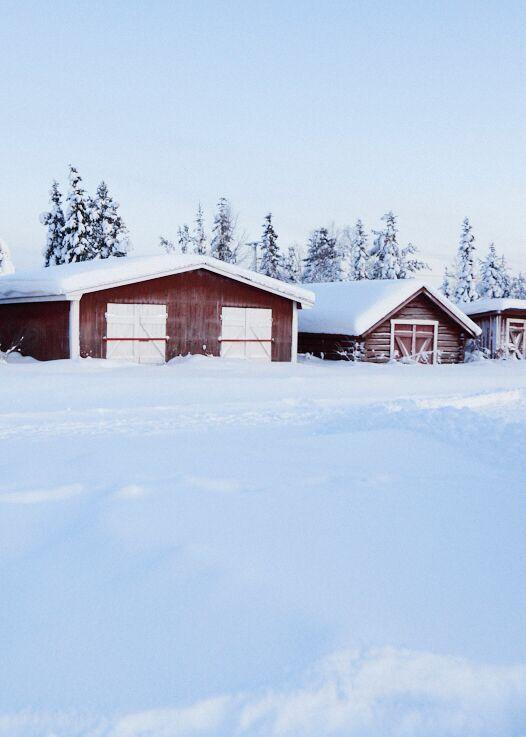 Photos de chalets enneigés à Icehotel Suède