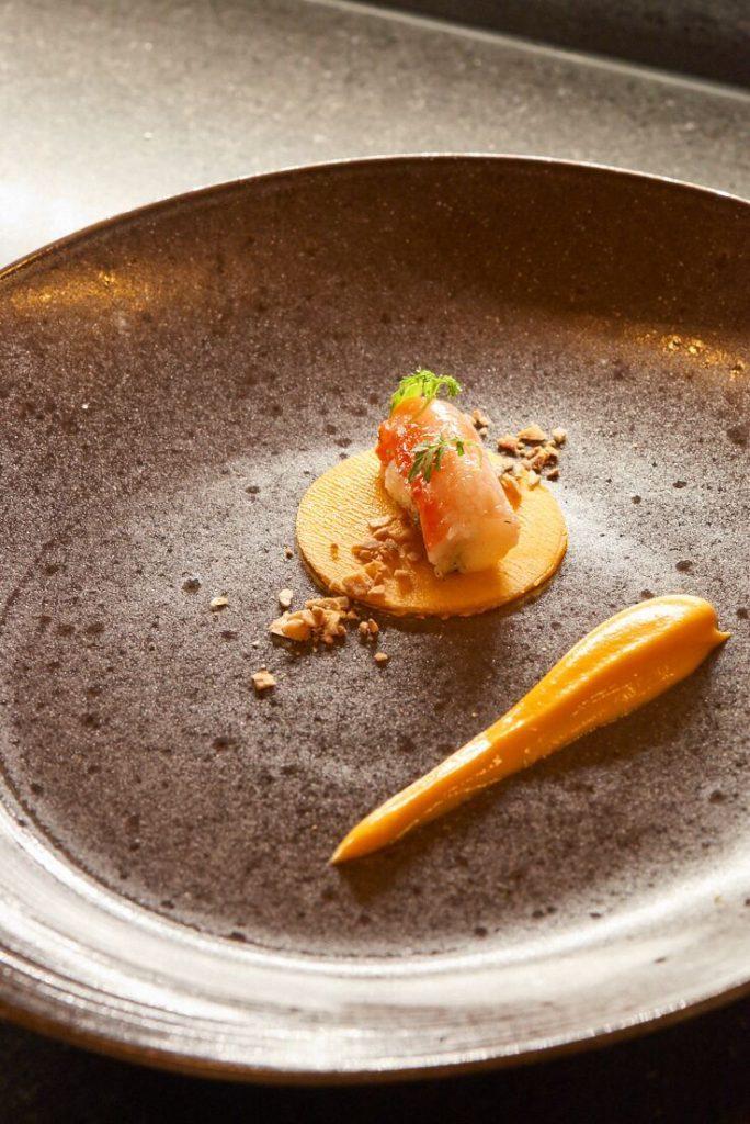 photo de King crab, crème de potiron