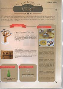 Article présentant un menu de Noël imaginé par Vanessa Romano
