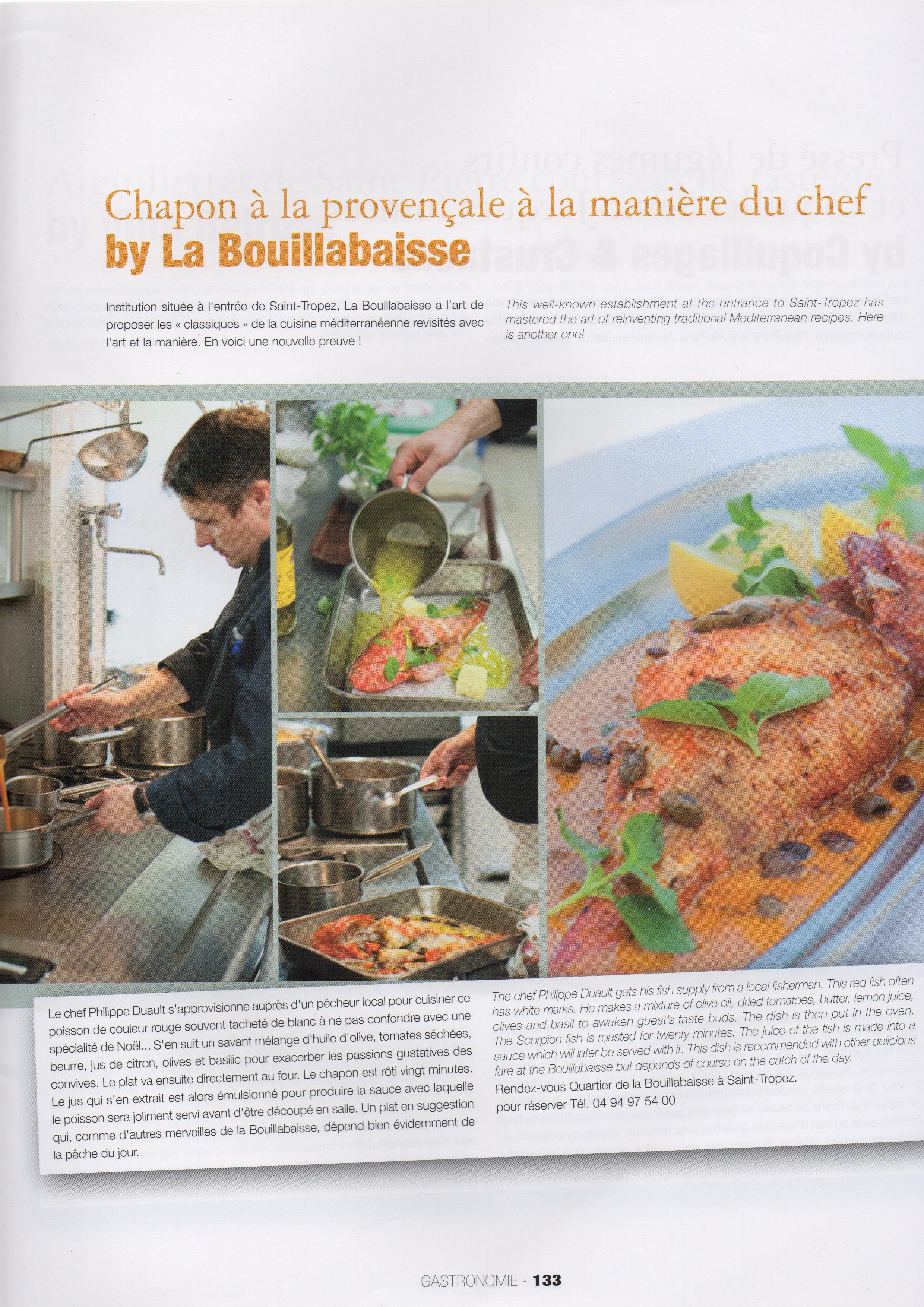 Photos culinaires de la Bouillabaisse prises par Vanessa Romano photographe culinaire Var