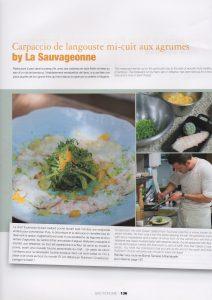 Photos du chef et du plat fétiche de la Sauvageonne, Vanessa Romano