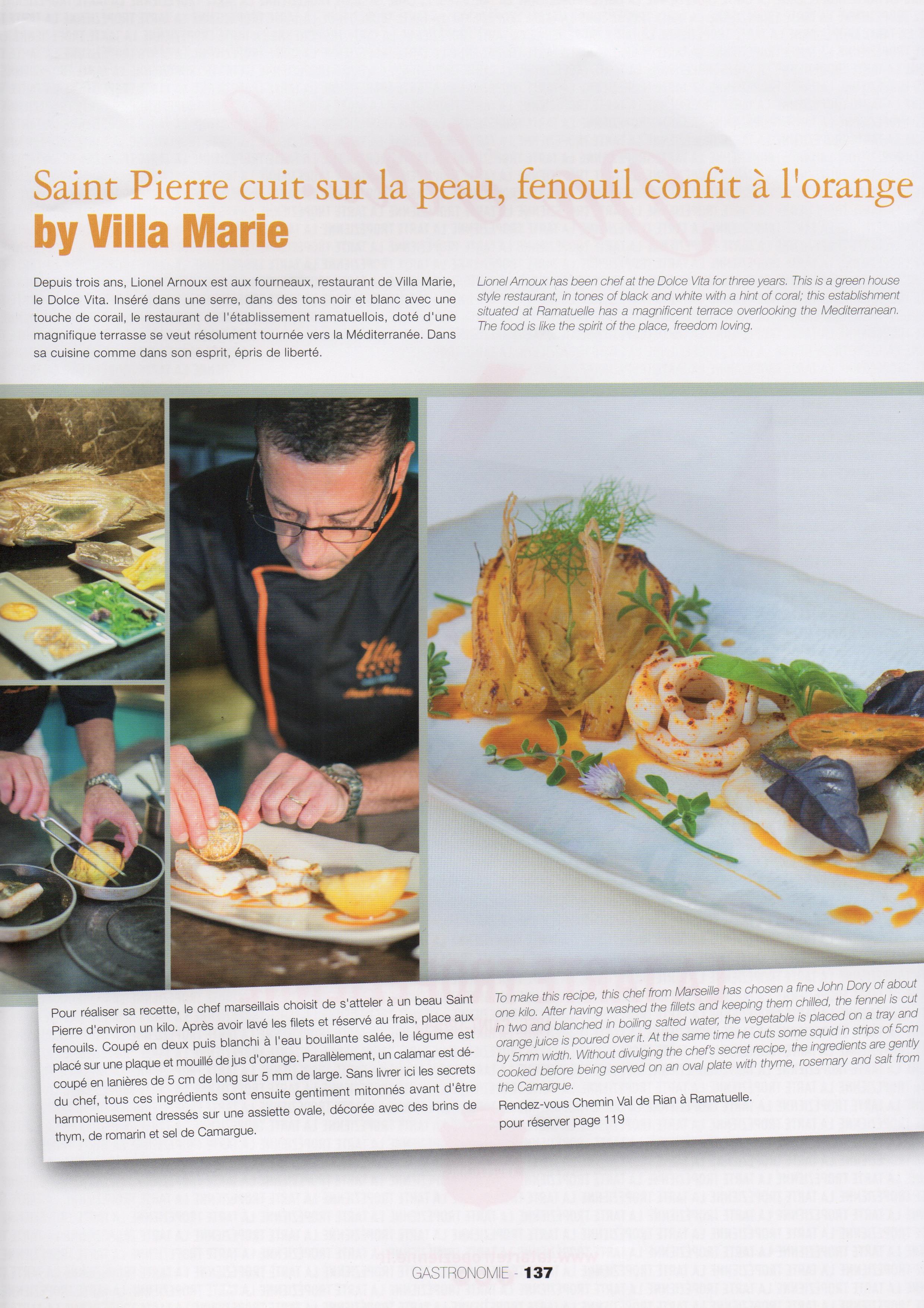 Vanessa Romano a fait une série de photos culinaires à la Villa Marie Saint Tropez