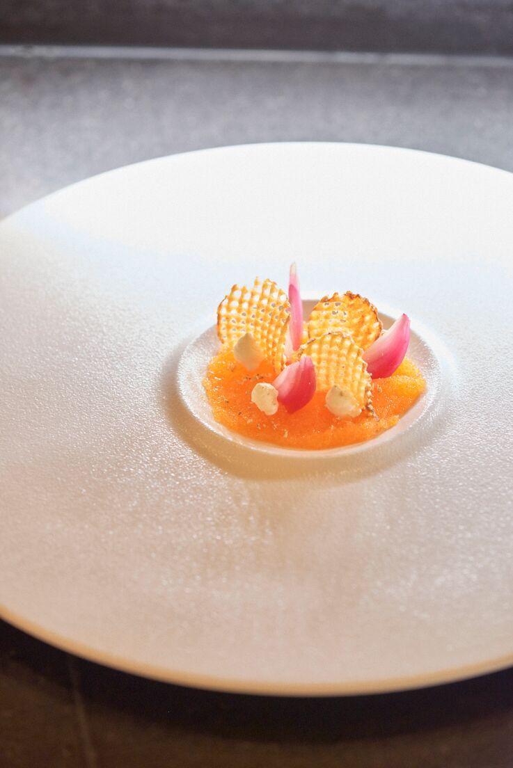 photographie culinaire d'Oeufs de poisson, Icehotel, Kiruna