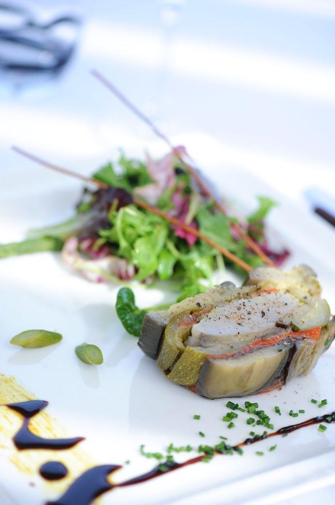 photo d'un pressé de légumes aux noix de Saint-Jacques
