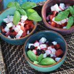 photo deSalade de pastèque, olives noires et féta Vanessa Romano