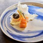 Photo de saumon gravlaax, caviar, Icehotel, Kiruna