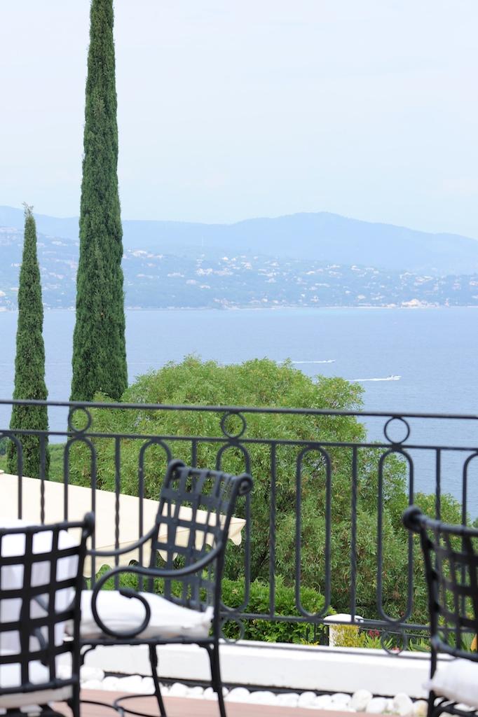 photographie de la vue de la terrasse de la Villa Belrose