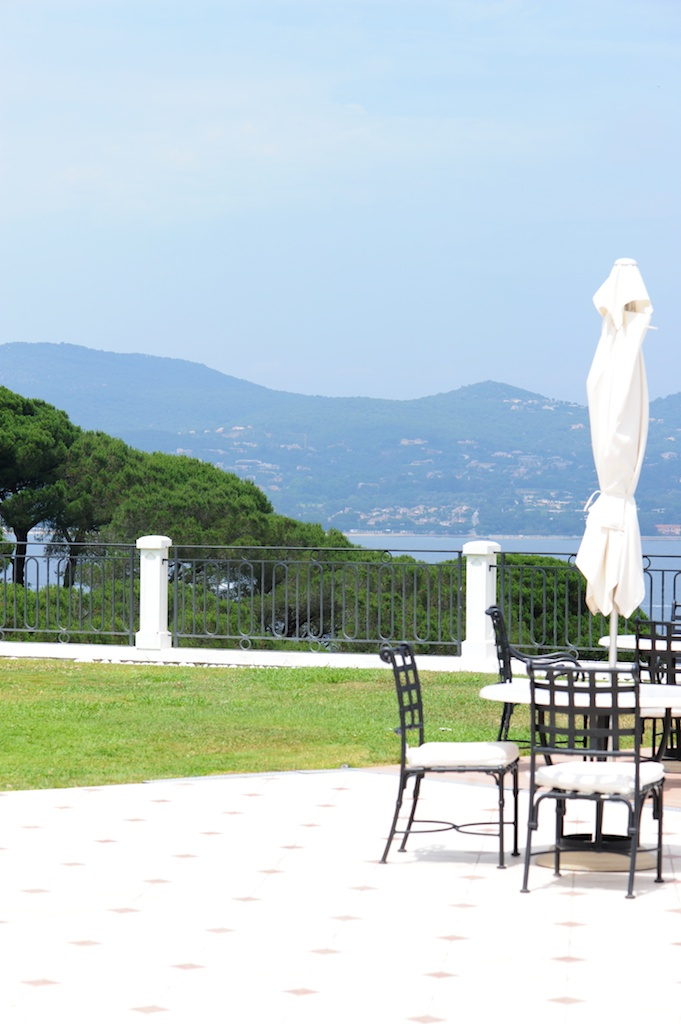 photographie de la Terrasse de la Villa Belrose à Saint Tropez