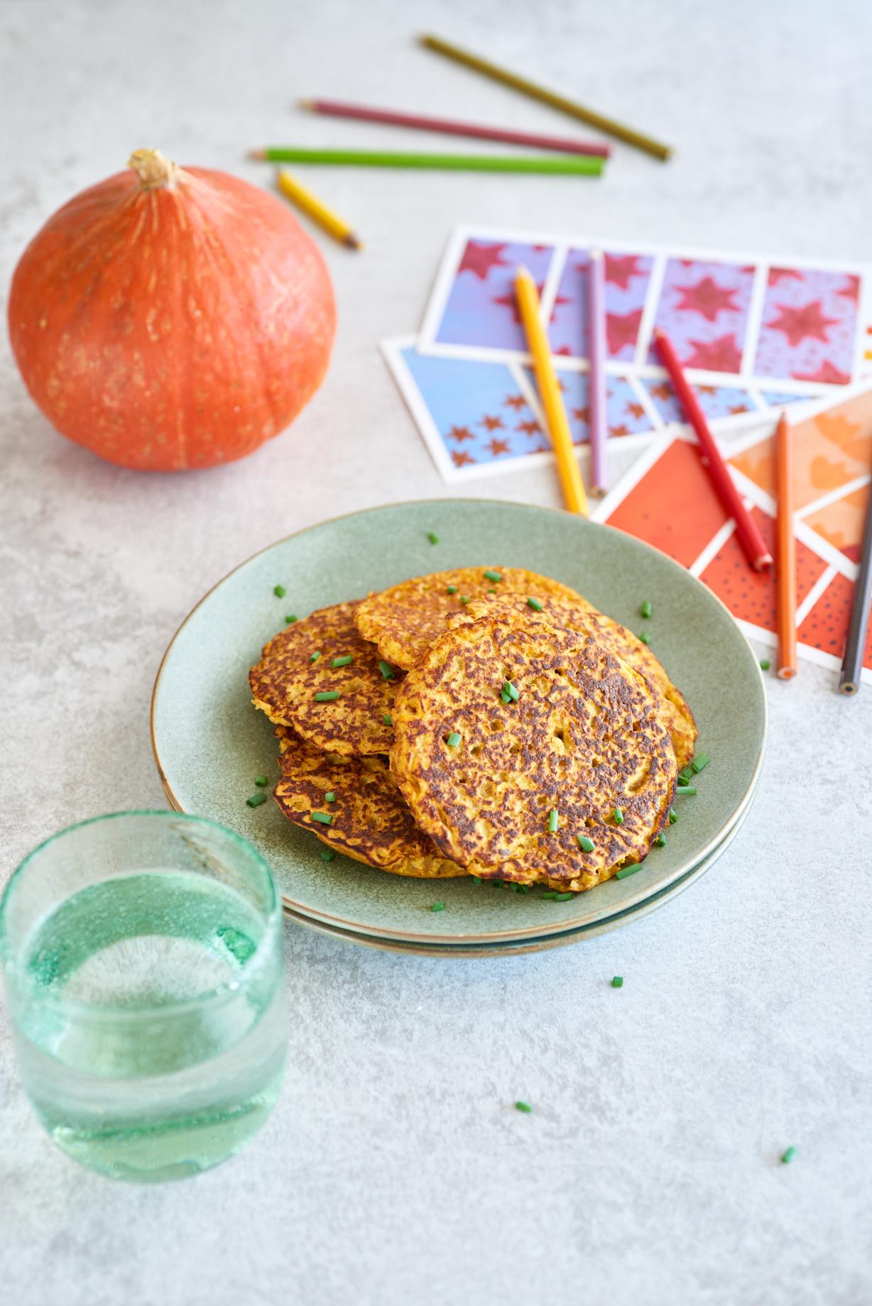 photo culinaire de blinis au potimarron