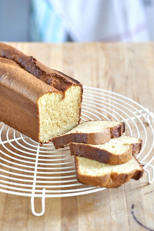photo culinaire d'un cake au lait concentré sucré