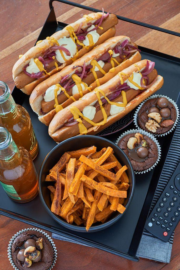 photographie culinaire de hot dogs veggies