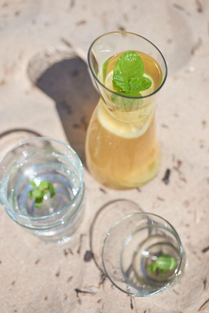 photo recette et stylisme culinaire infusion gingembre citron
