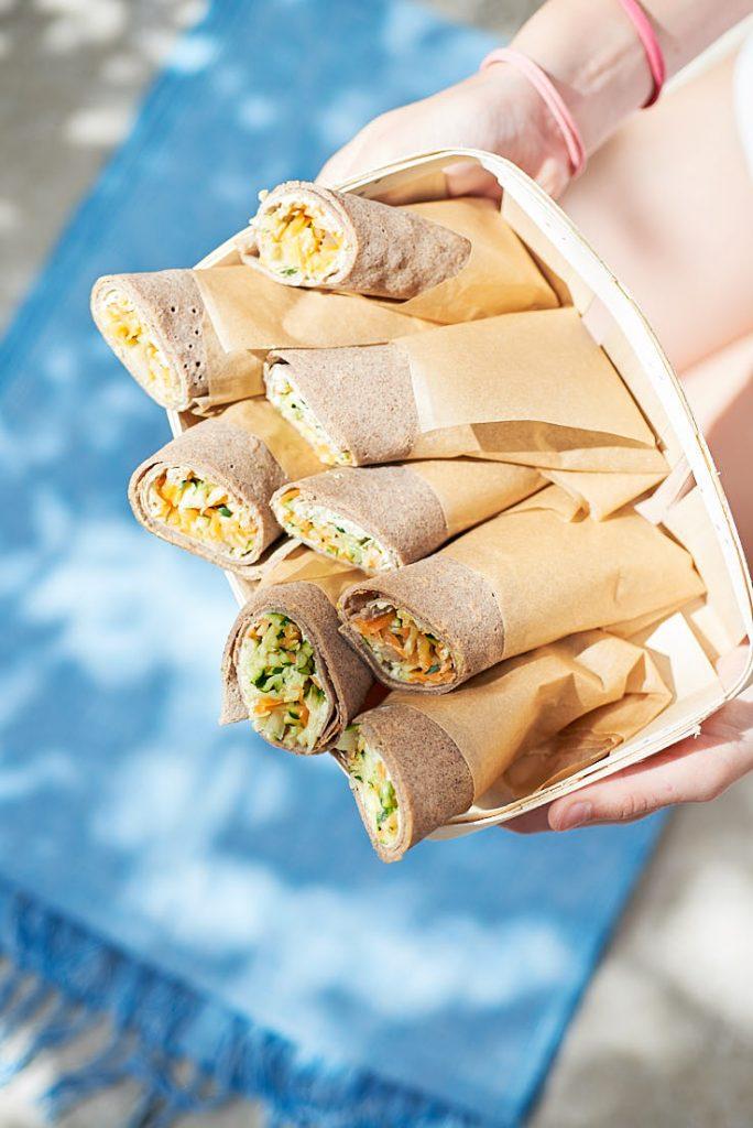 recette photo et stylisme wrap de sarrasin aux légumes