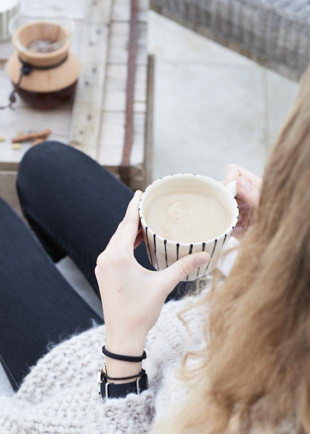photographie culinaire de thé chai