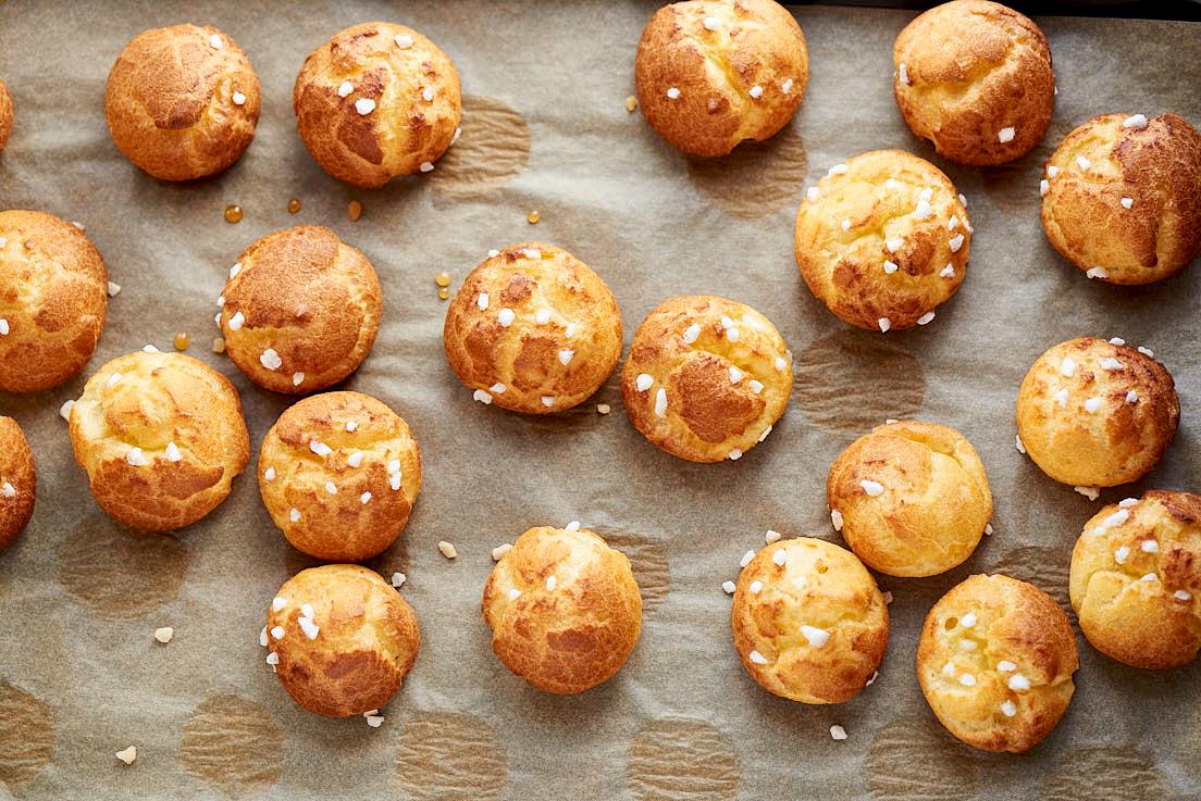 photographie culinaire de chouquettes