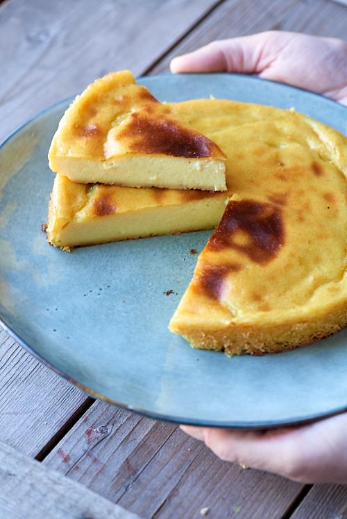 photographie culinaire d'un flan pâtissier