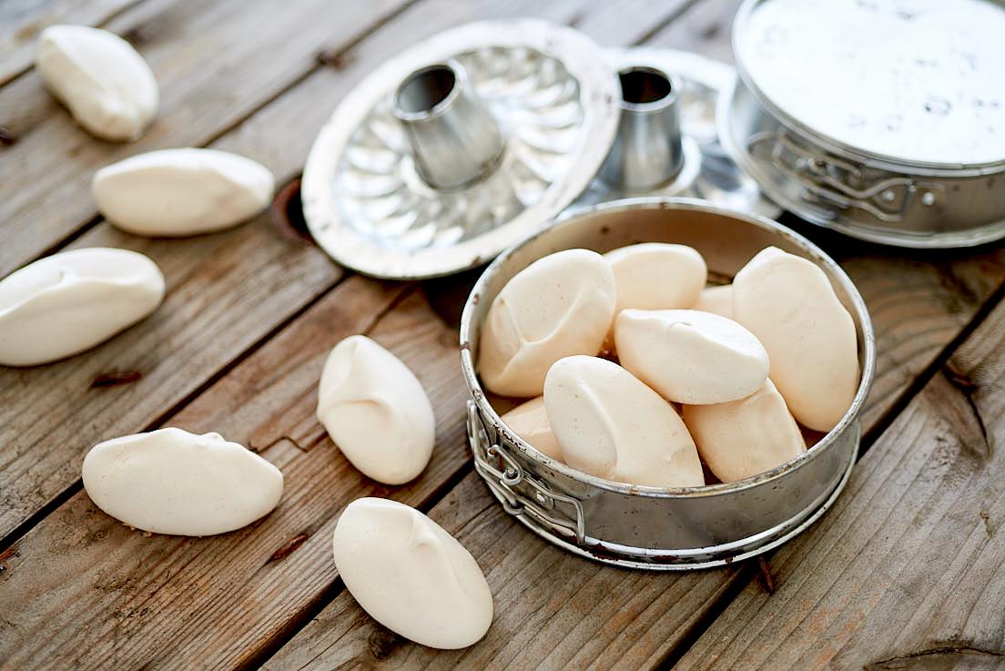 photographie culinaire de meringues