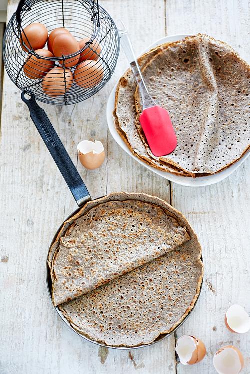 photo culinaire d'une galette au sarrasin