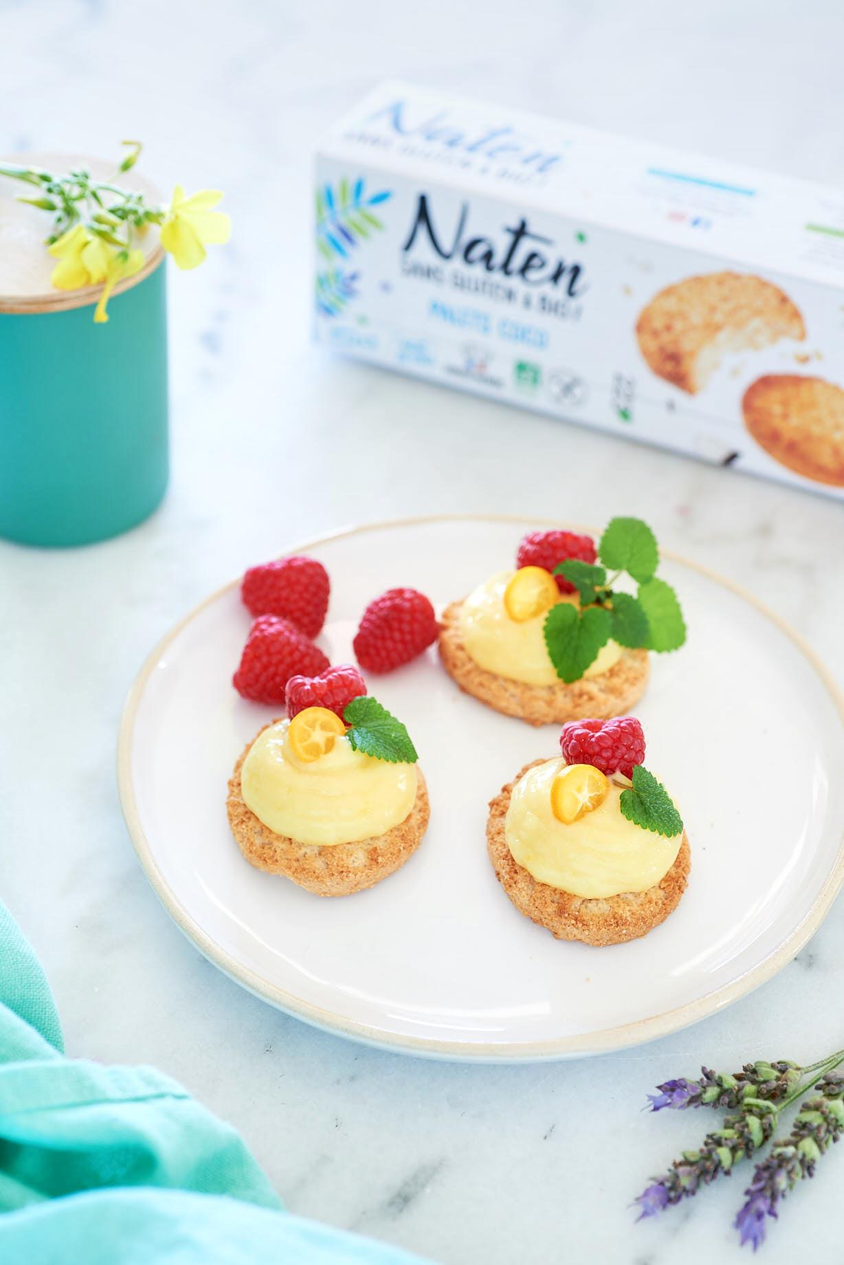photo publicitaire de tartelettes au citron pour Naten
